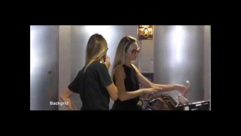 Victoria's Secret Angels Candice Swanepoel Martha Hunt land in LA