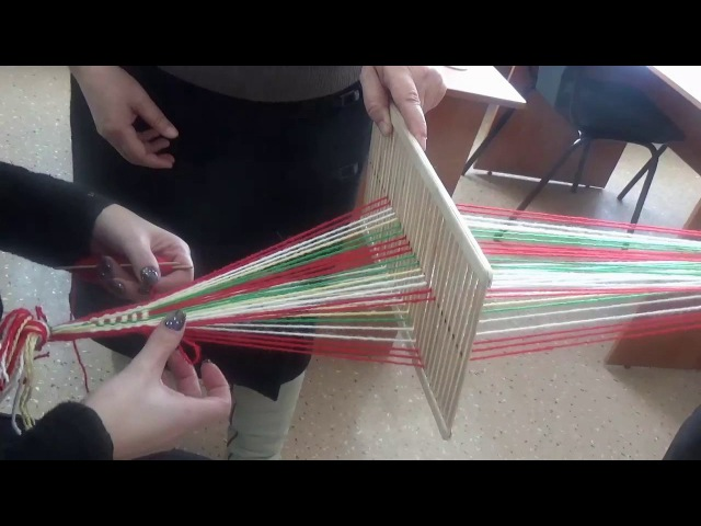 Технология ткачества пояса на бердо