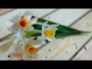 DIY - craft tutorial How to make Paper flower - Narcissus - Làm hoa thủy tiên giấy nhún
