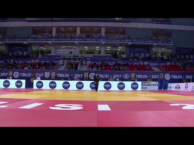 Quarter-Final -81 Kg KHUBETSOV Alan PAPUNASHVILI Tbilisi Grand Prix 2017