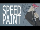 Speedpaint Painting the traditional lineart in Paint Tool Sai