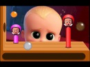 Learn Color Baby Boss 🍎🍎 Learn Colors For Kids With Baby Boss ⚽⚽ and Hammer ⛏⛏
