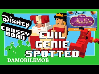 ★ Disney Crossy Road Secret Characters | JESTER SULTAN and RED DRESS JASMIN (EVIL GENIE SPOTTED)