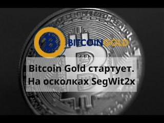 Майнинг дома. Bitcoin Gold стартует. На осколках SegWit2x