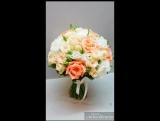 Нежный свадебный букет выполнен под заказ Милый романтичный букет невесты  .Идеальное сочетание с платьем оттенка айвори или цве