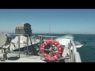 #АРМИ2017 Артиллерийские стрельбы по малоразмерной морской цели на международном конкурсе Кубок моря (акватория Каспийского моря