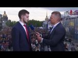 Игорь Шестеркин на чемпионском параде СКА