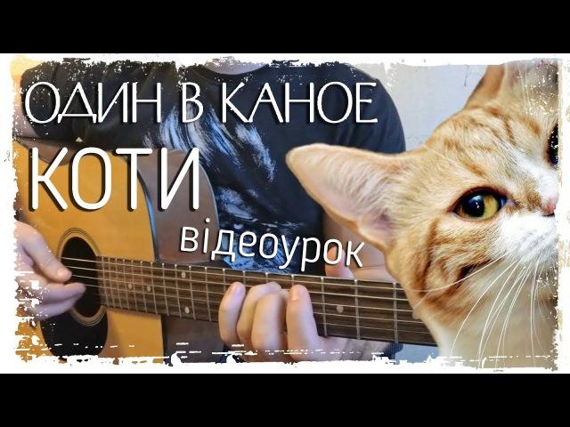 🇺🇦 Один в Каное - Коти (відеоурок на гітарі by MuseTANG)