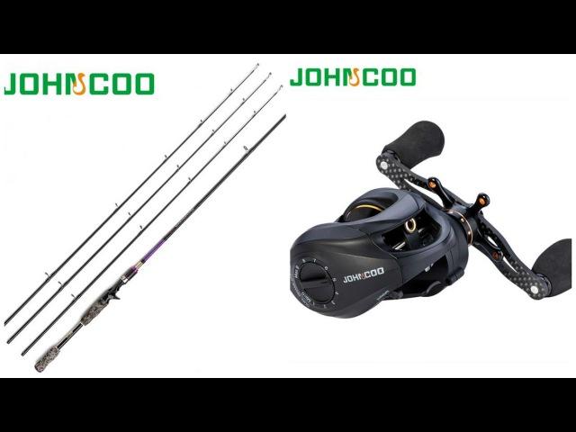 Кастинговая катушка JOHNCOO JC 200 и спиннинг ThunderBolt с aliexpress