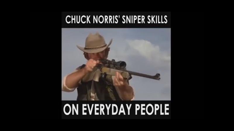 Chuck Norris Sniper Skills on everyday people [HD VERSION]