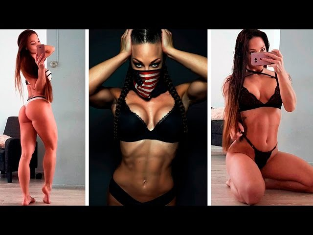 Amasing IFBB bikini model ANNA DELYLA | BOOTY Workout, Abs Defined and Toned!