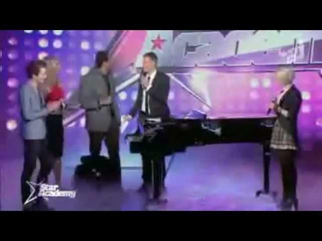 Stefan Filey accompagne Laurène et Sidoine sur Hallelujah Star Ac NRJ12 13 12 2012