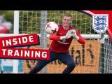 Euro U21 training session with England's Goalkeepers Inside Training