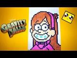Рисуем по клеточкам-Мэйбл из Гpaвити Фoлз!(Gravity Falls Mabel)BIG PIXEL ART!