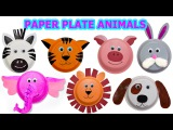 How to create Cute Animals using Paper Plates   Craft Videos for Kids  Jugnu Kids