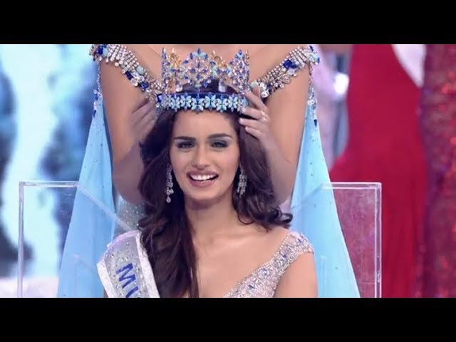 Miss world 2017 - Crowning Moment _ miss universe 2017 winner_miss universe Manushi Chillar