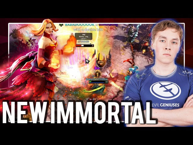 EG.zai Mid Lina with New Immortal Dota 2