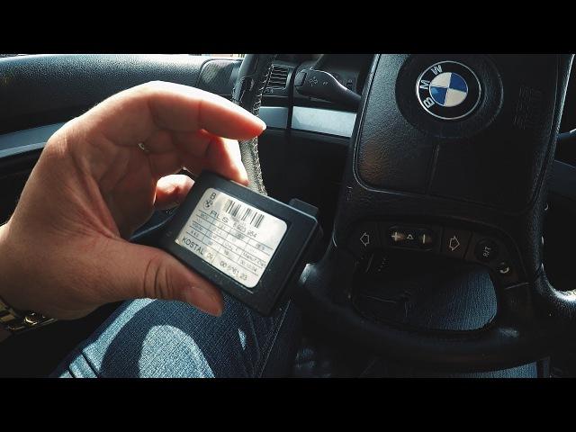 BMW E39 - Переклейка RLS (датчик дождя и света) на силикон.