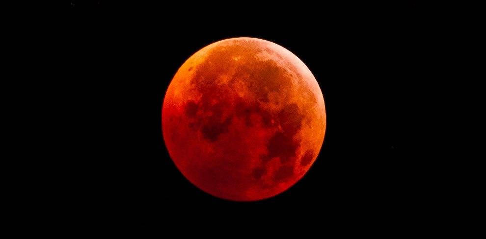 Жители Уфы наблюдали затмение «кровавой Луны»