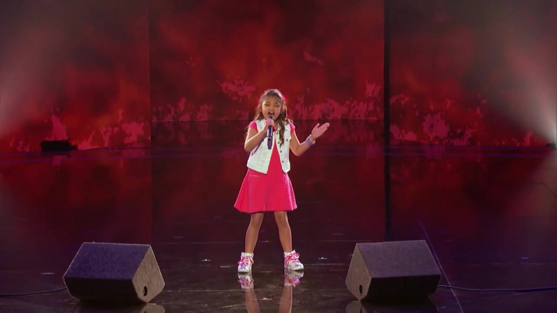 Angelica Hale- 9-Year-Old Earns Golden Buzzer From Chris Hardwick - Americas Got Talent 2017