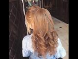 Вечерняя причёска с объемным хвостом
