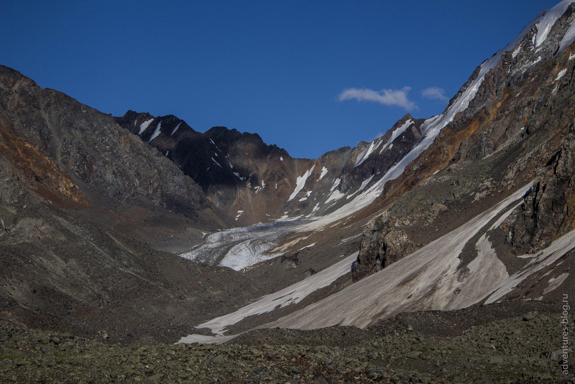По центру фото - перевал Нижний Шавлинский 1Б, 3200 н.у.м.