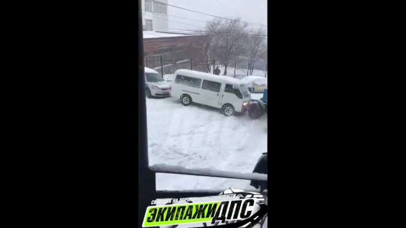 Подборка аварий г.Владивосток 17 ноября 2017 снегопад !
