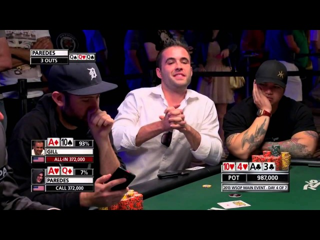 Carter Gill Poker Face After Losing on The River Card