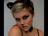 Макияж кошки, киски для хеллоуин. Halloween make up Cat