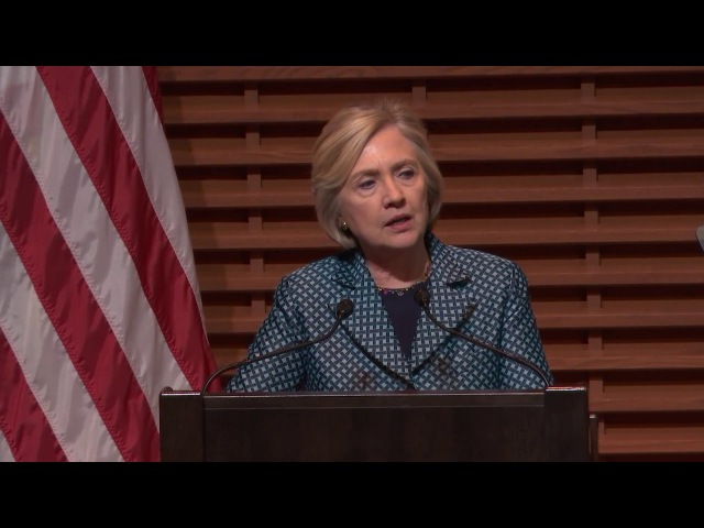 Hillary Clinton speaks at launch of Stanford's new digital policy program