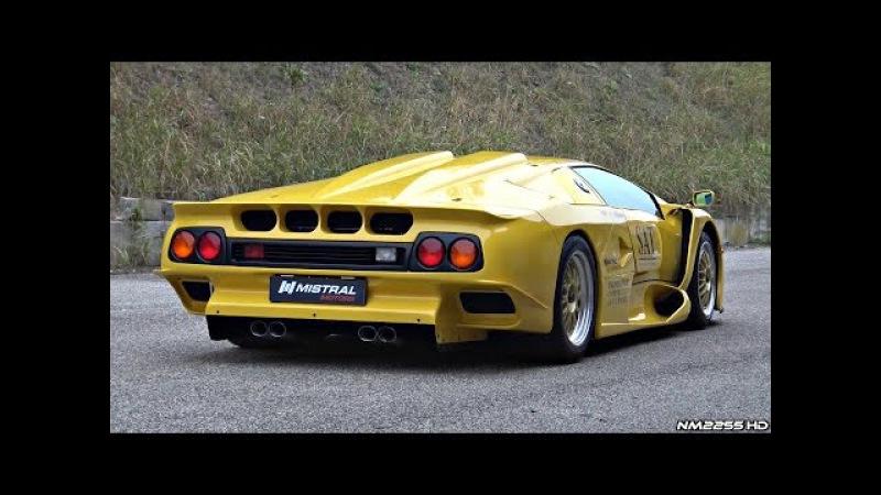 Ultra-RARE Lamborghini Diablo GT1 Stradale - Start Up, Revs Overview!
