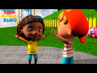Hello Nice Day Song for Kids 👋 | Preschool, School, Learn English | Little Action Kids