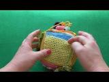 Развивающий вязаный кубик Радужные развивашки
