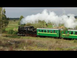 Narrow gauge steam locomotive / Паровоз Гр-280. Янтарный край