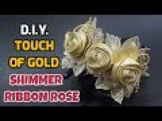D.I.Y. Touch of Gold Shimmer Ribbon Rose   MyInDulzens
