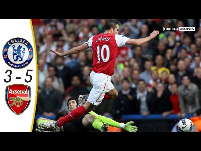 Chelsea vs Arsenal 3-5 | Goals and Highlights | 2011-12 with English Commentary