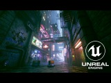 Cyberpunk City Alley - Unreal Engine 4