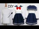 DIY How to Transform T shirt into Navy Dress Chinese Qi Lolita Dress Review