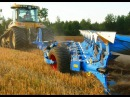 Powerful CAT Challenger Lemken Diamant 11 ploughing