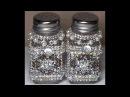 DIY~Gorgeous Upcycled Dollar Tree Salt Pepper Shakers~ Vintage Glam! SO EASY!