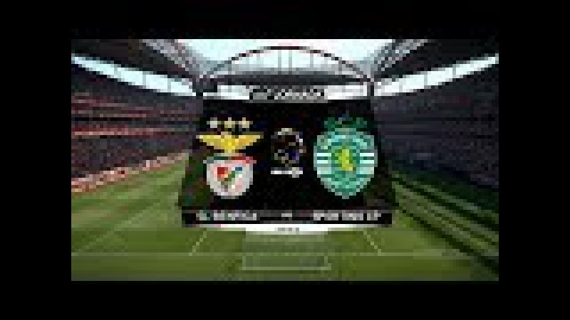 Benfica vs Sporting CP Highlights | Liga NOS | Estadio da Luz | PES 2017 HD