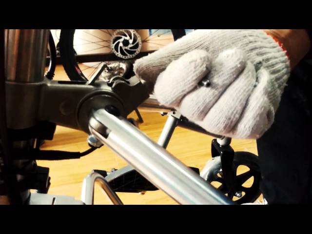 Electric wheelchair handcycle installation video