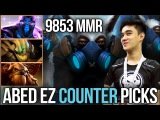Abed 9853 HIGHEST MMR Meepo vs. Counter Picks - 6 wins to 10k MMR Dota 2