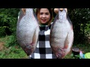 Awesome Cooking Big Fish - Grilled Fish Recipe Prepared Beautiful Girl Cooking Village Food Factory
