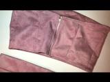 Комплект топ + юбка с разрезом под замшу