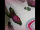 подушка с объемными бабочками