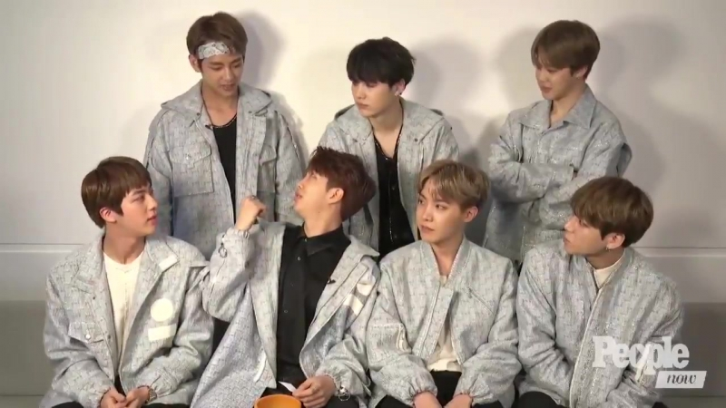 [170830] People NOW | People (K-Pop Group BTS Dish On Whos Most Romantic, Korea Vs. USA More Confessions)