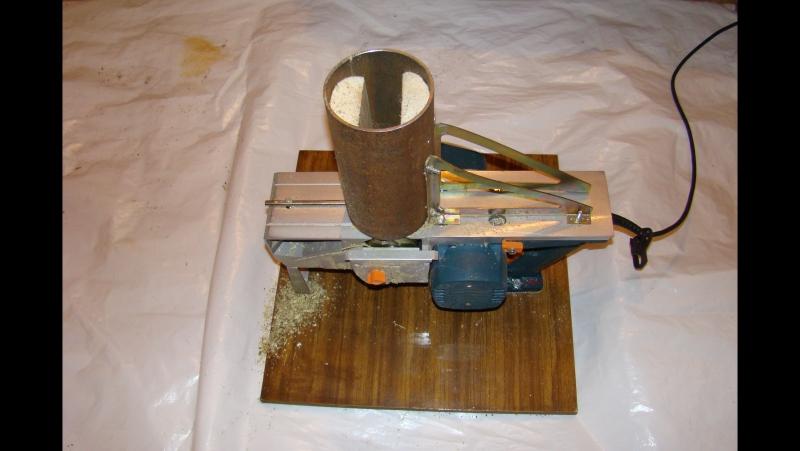 Результат дробления веток самодельной дробилкой из рубанка.