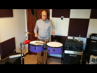 5/4 Paradiddle orchestrated on timbales