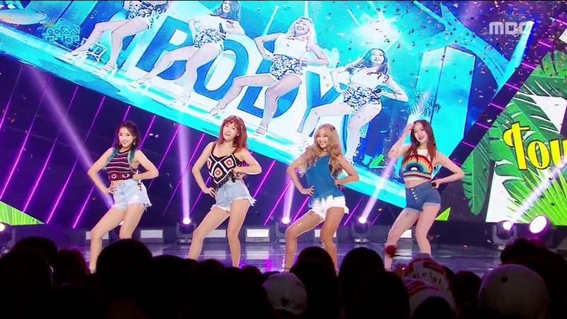 Sistar - Shake It I Swear Touch My Body @ Music Core 170603